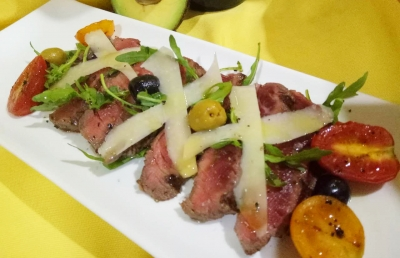 Grilled Veal Tenderloin with Asparagus and Arugula